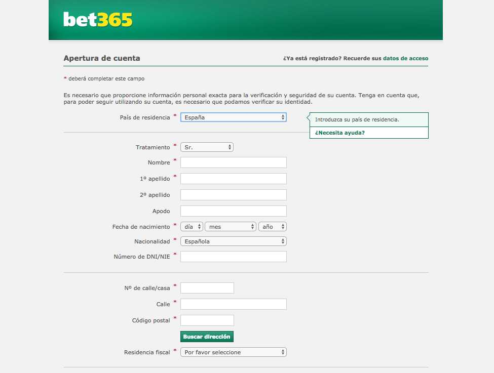 Bet365 registro matices